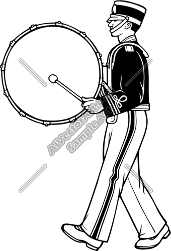 Drummer and vectorart sports. Drums clipart marching band drum