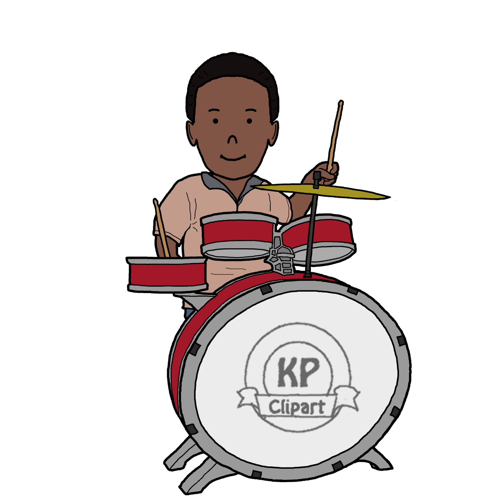 Drums clipart music lesson. Kp friends playing boy