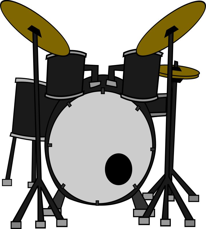 Musical instruments black and. Drums clipart rhythm instrument