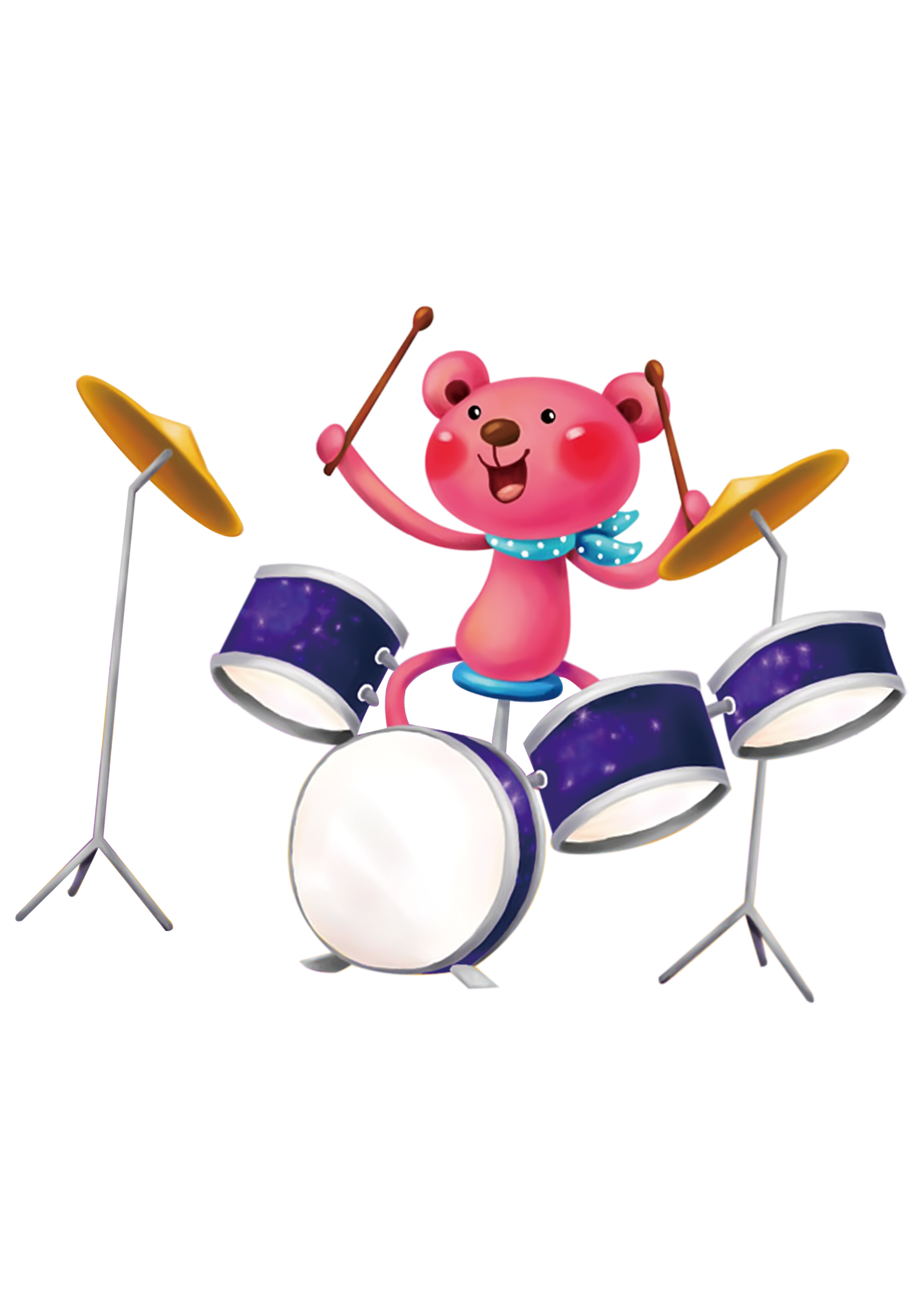 Musical instrument instruments cartoon. Drums clipart drum indian