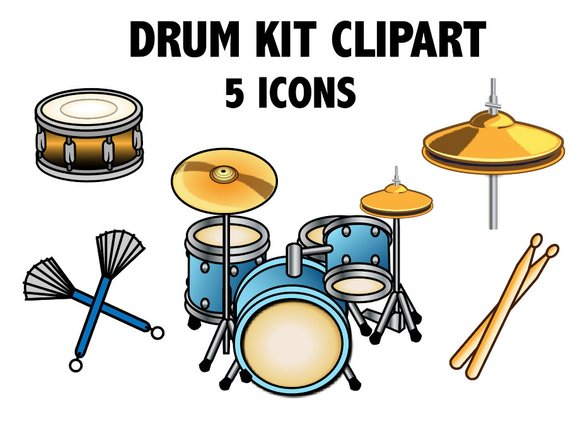 Drum kit rock band. Drums clipart percussion instrument