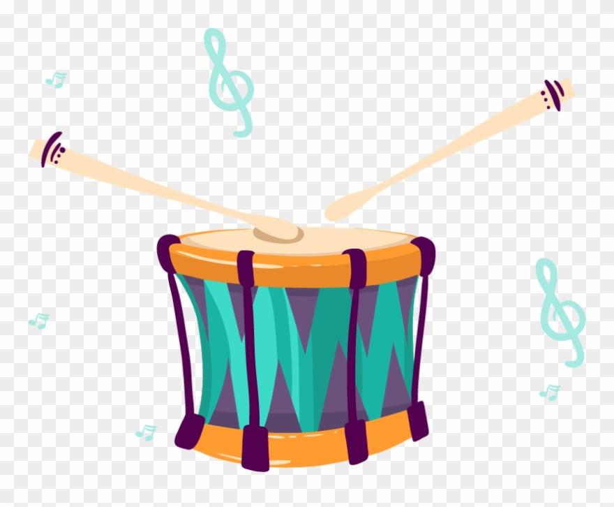Drums clipart musical instrument. Hand drum cartoon instruments