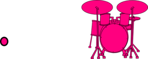 Drums clipart pink. Hot clip art at