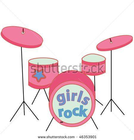 Free drum set download. Drums clipart pink