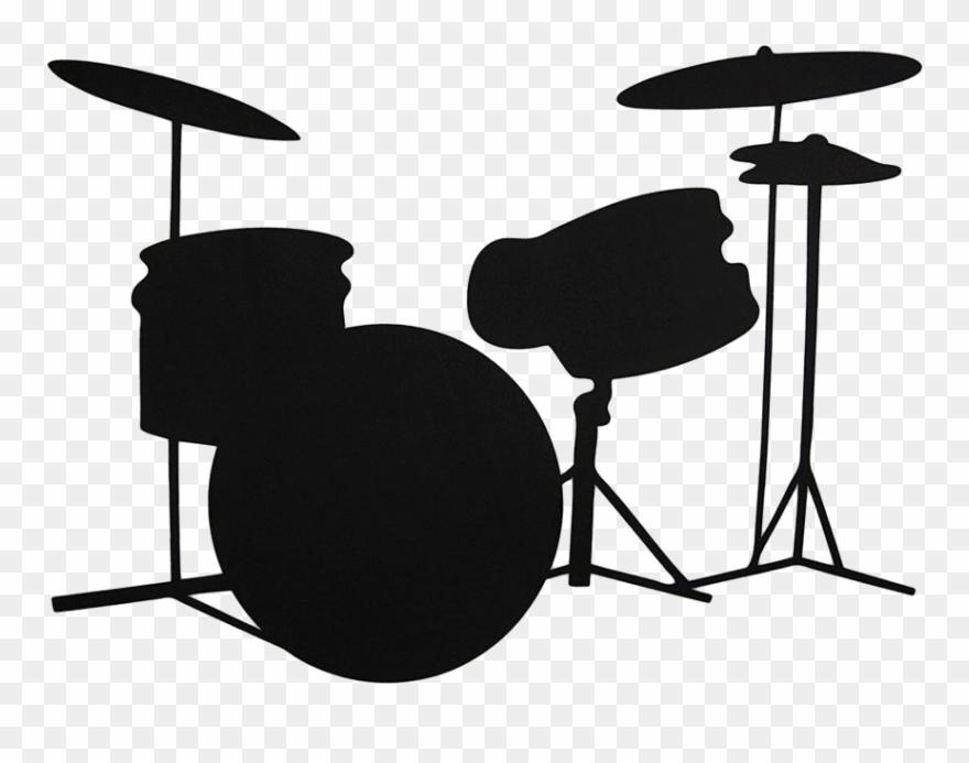 Drum set png . Drums clipart silhouette