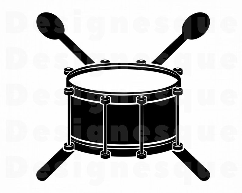 Logo snare files for. Drum clipart svg