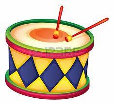 Drum clipart tambor. Tambores dibujos a color