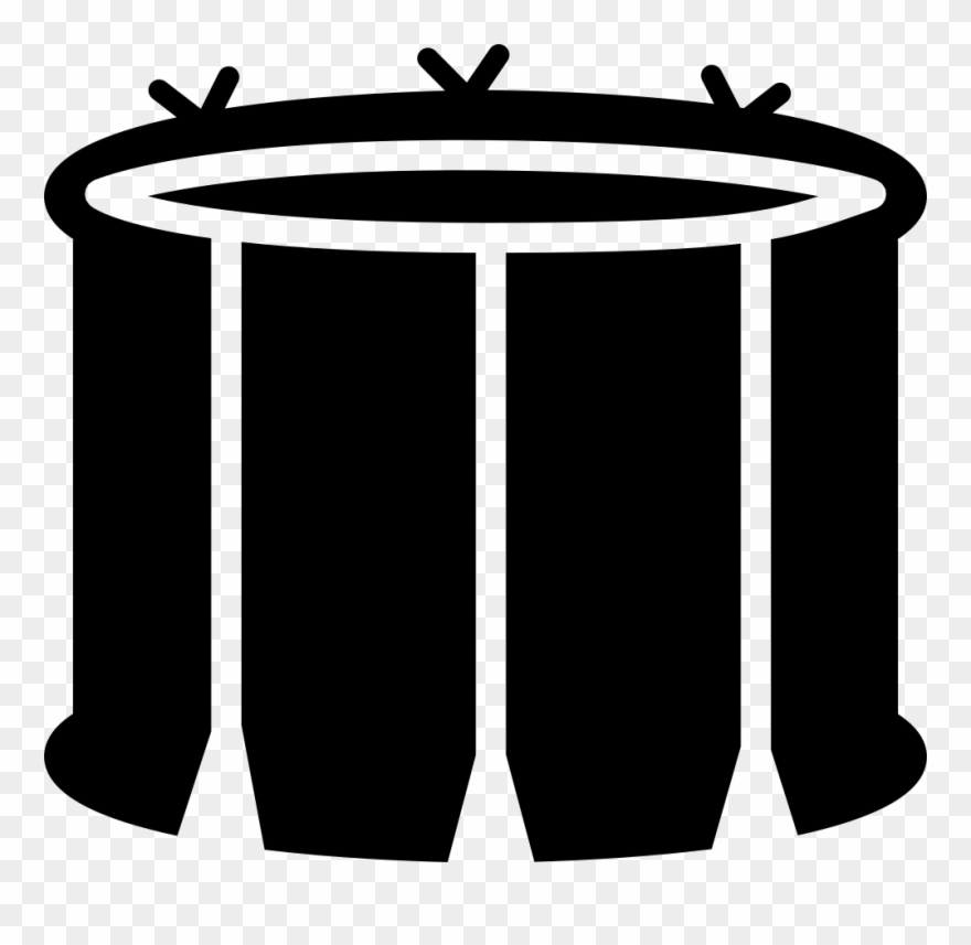 Snare with white lines. Drum clipart tambor