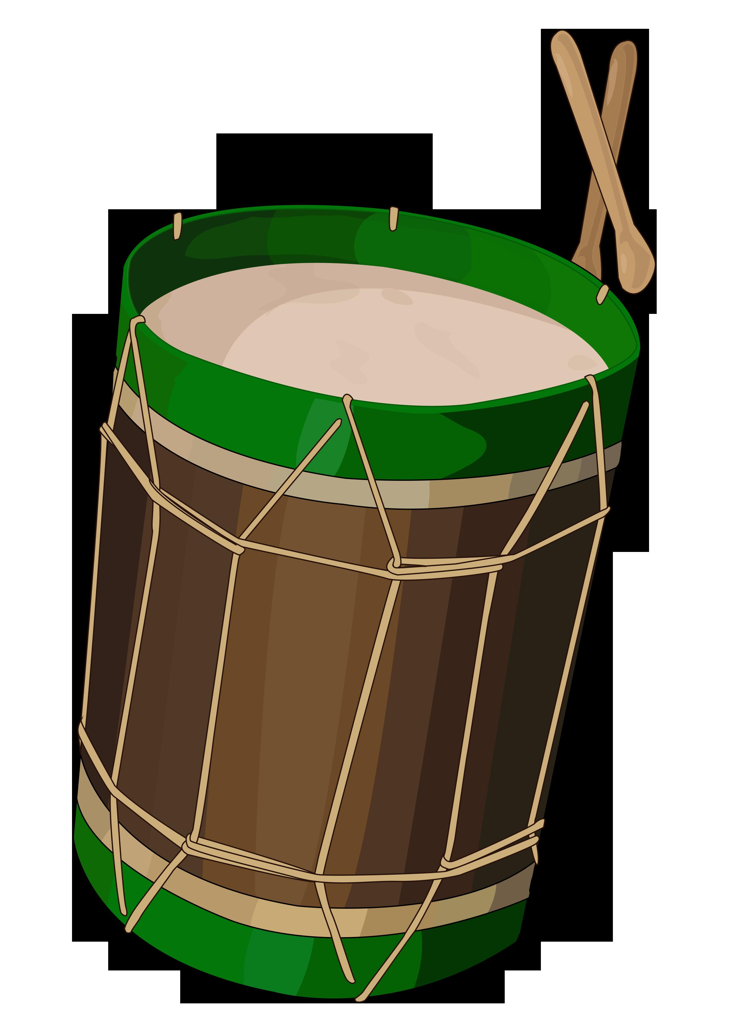 Del hierro canal rea. Drum clipart tambor