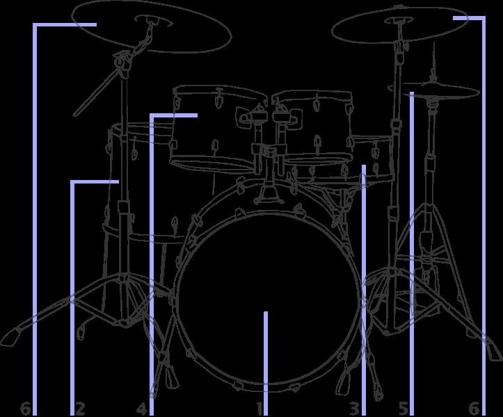 File drum kit illustration. Drums clipart svg