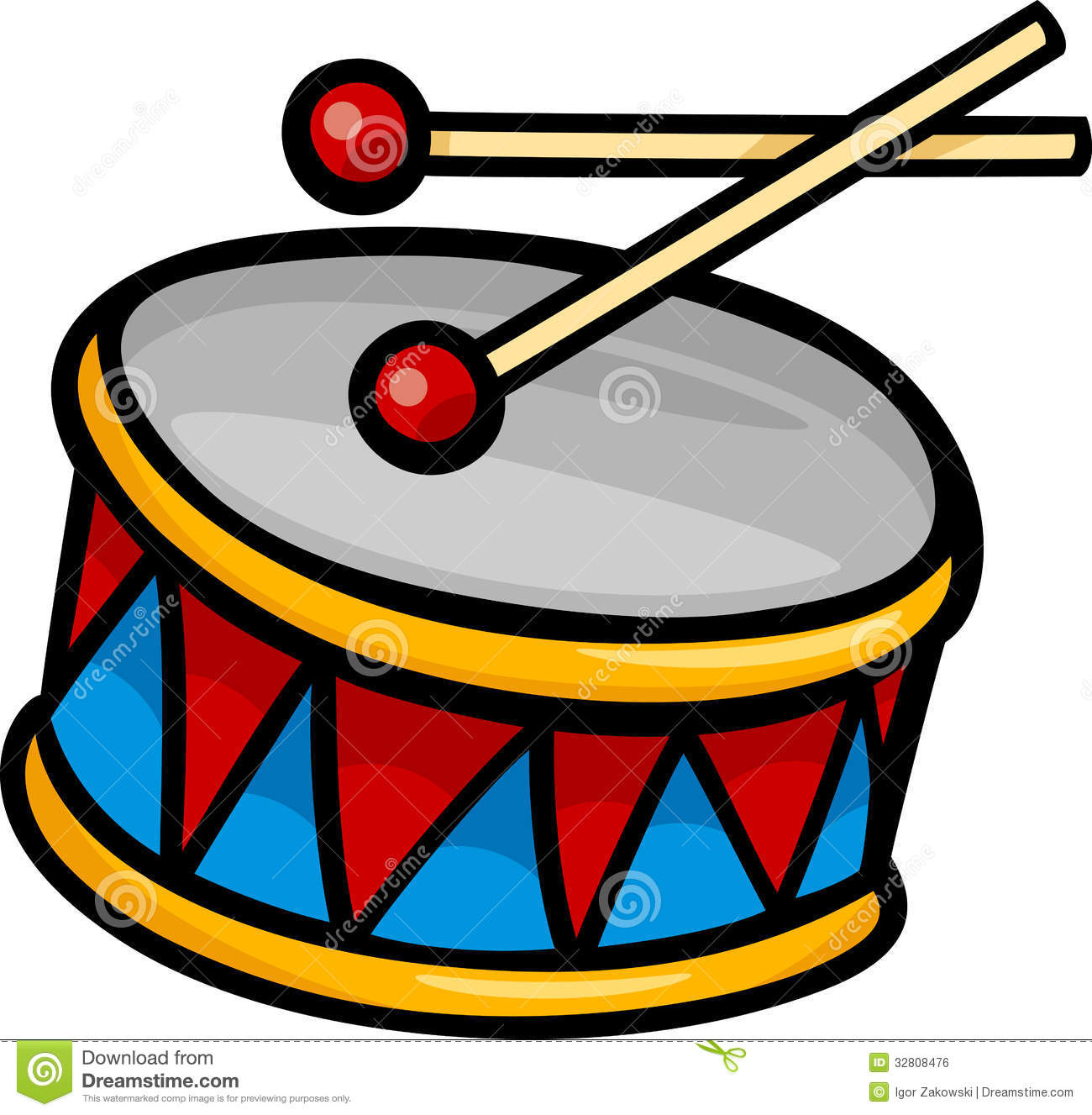 Drums clipart. Snare drum clip art