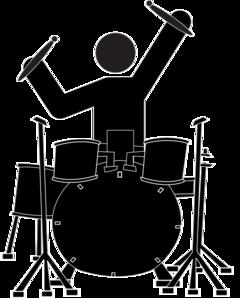 Drums clipart. Boy drummer clip art