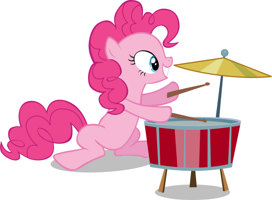 Xylophone clipart drum lyre. Pinkie plays drums by