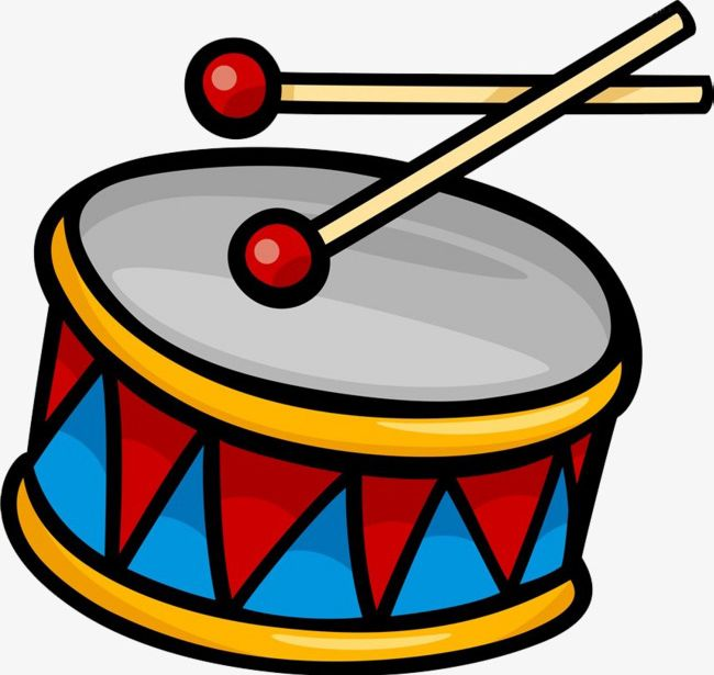 Drums clipart color. Hand painted png car