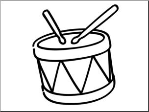Drums clipart color. Clip art basic words