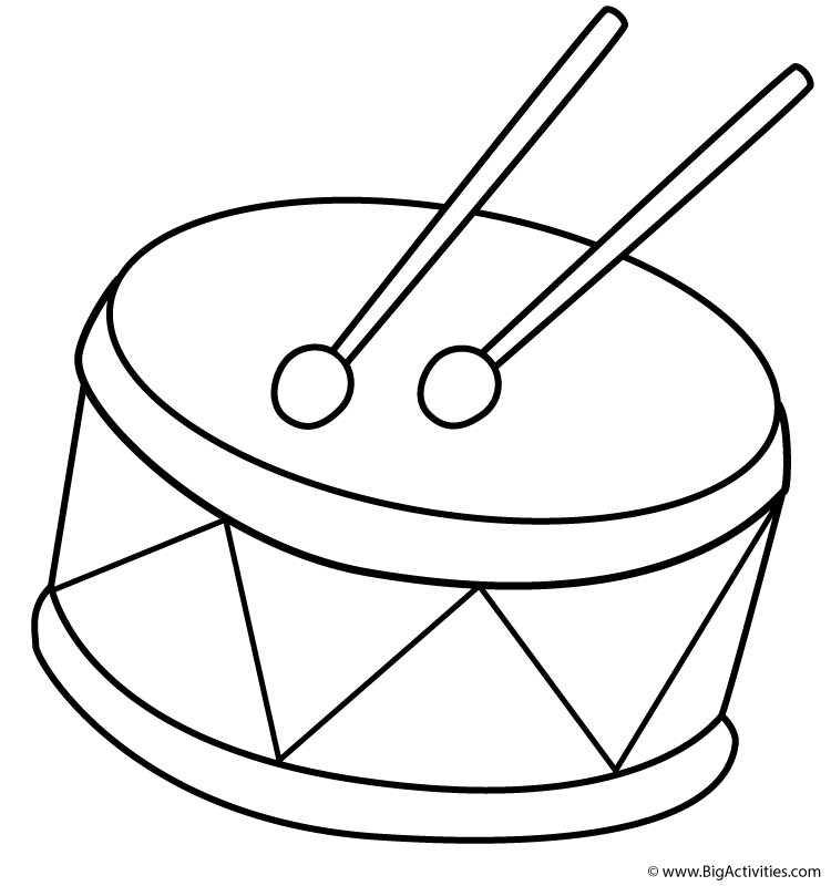 Drums clipart color. Drum kit drawing free