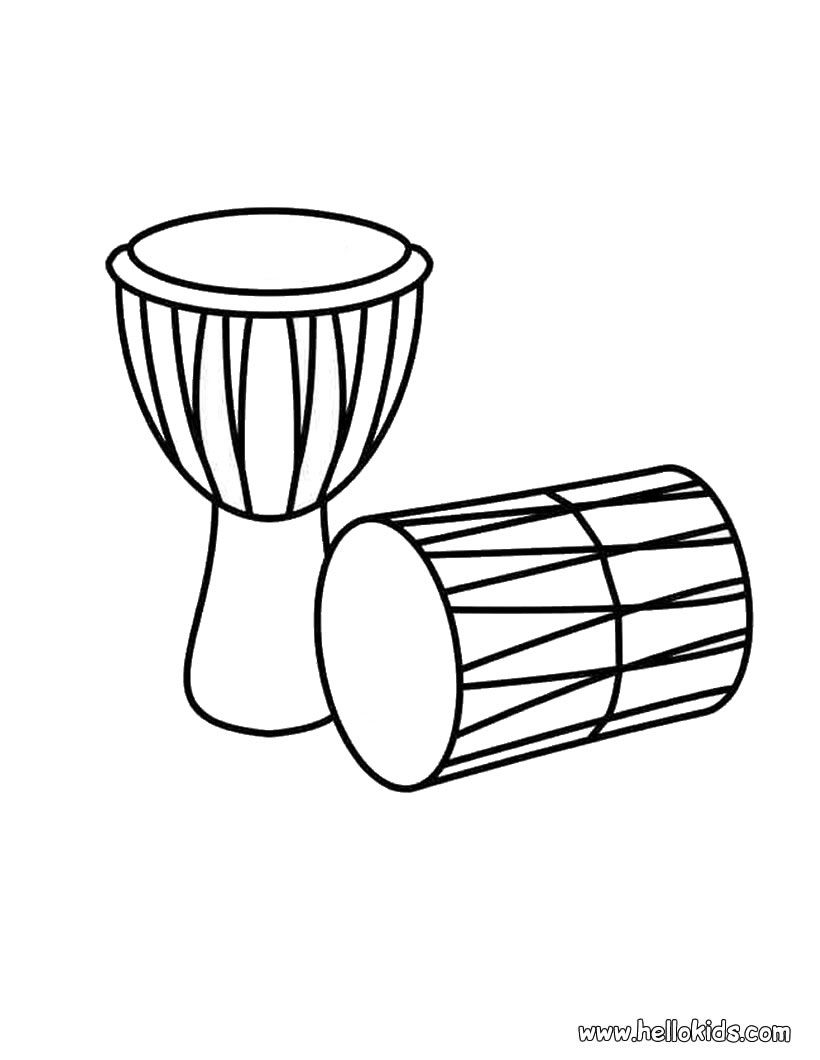 Drums clipart colouring. Coloring page compassion international