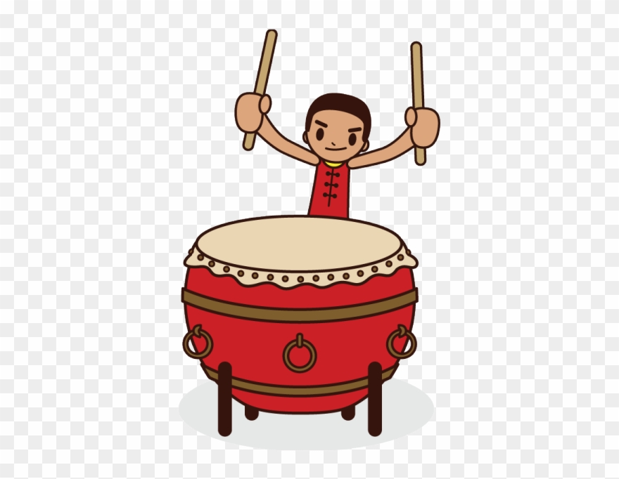Drums clipart drum chinese. Thump went the big