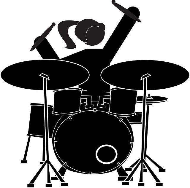 Girl drummer panda free. Red clipart drum set