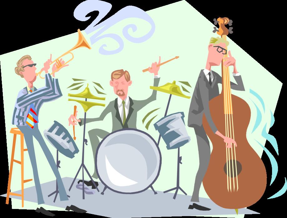 Dixie jazz musicians perform. Musician clipart band member