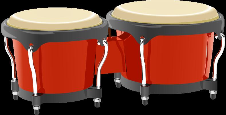 Drums clipart insturments. Bongo music instruments percussion