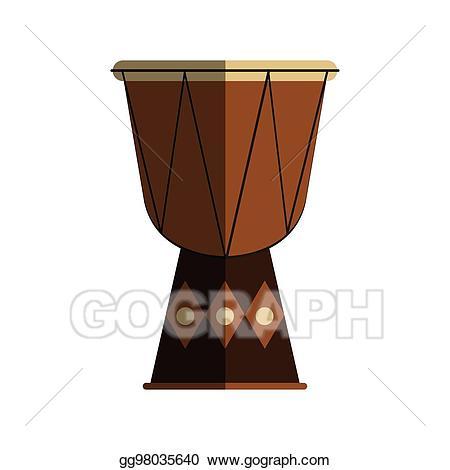 Vector instrument design . Drums clipart music equipment