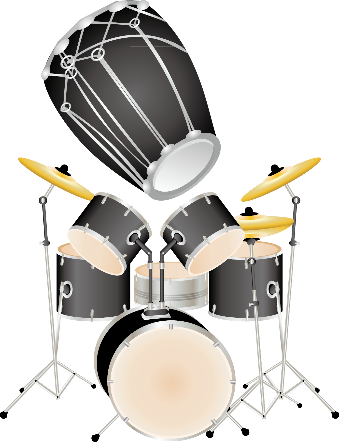 Drums clipart percussion instrument. Clip art modern music