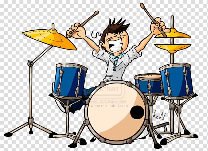 Drums clipart percussionist. Animal drummer cartoon transparent