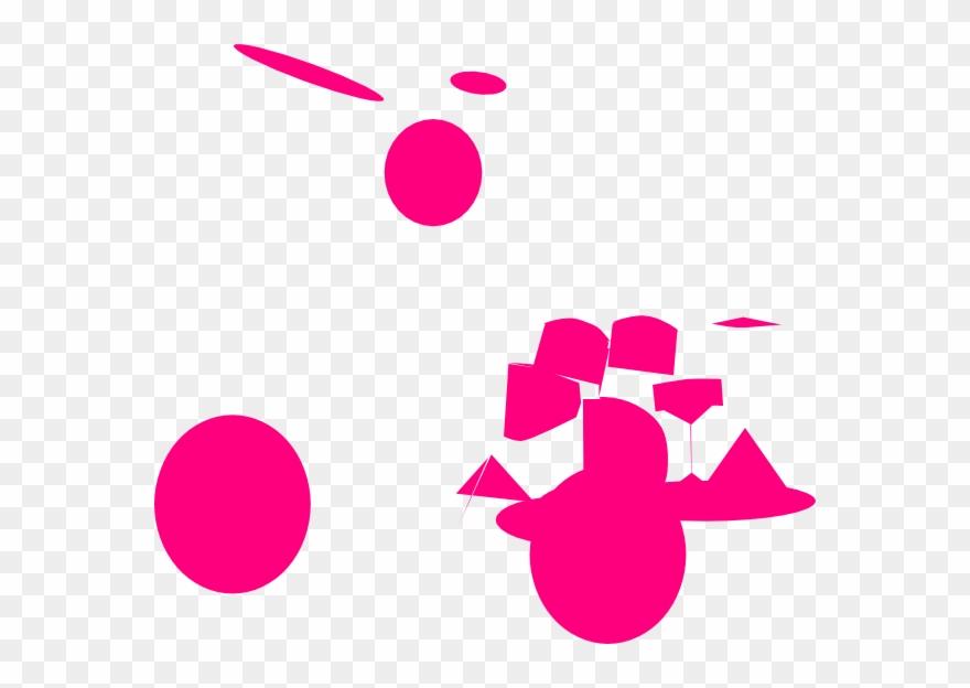 Drum set png download. Drums clipart pink