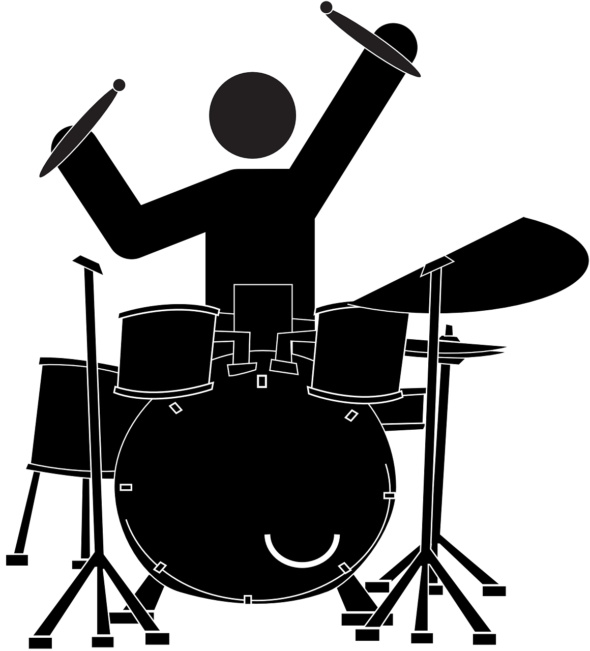 April bonkers away see. Drums clipart silhouette