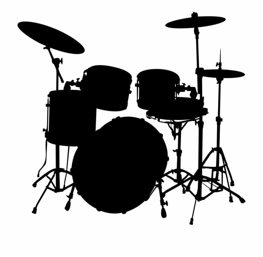 Drums clipart silhouette. Onlinelabels clip art png