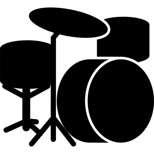 Drums clipart silhouette. Drum set icons free