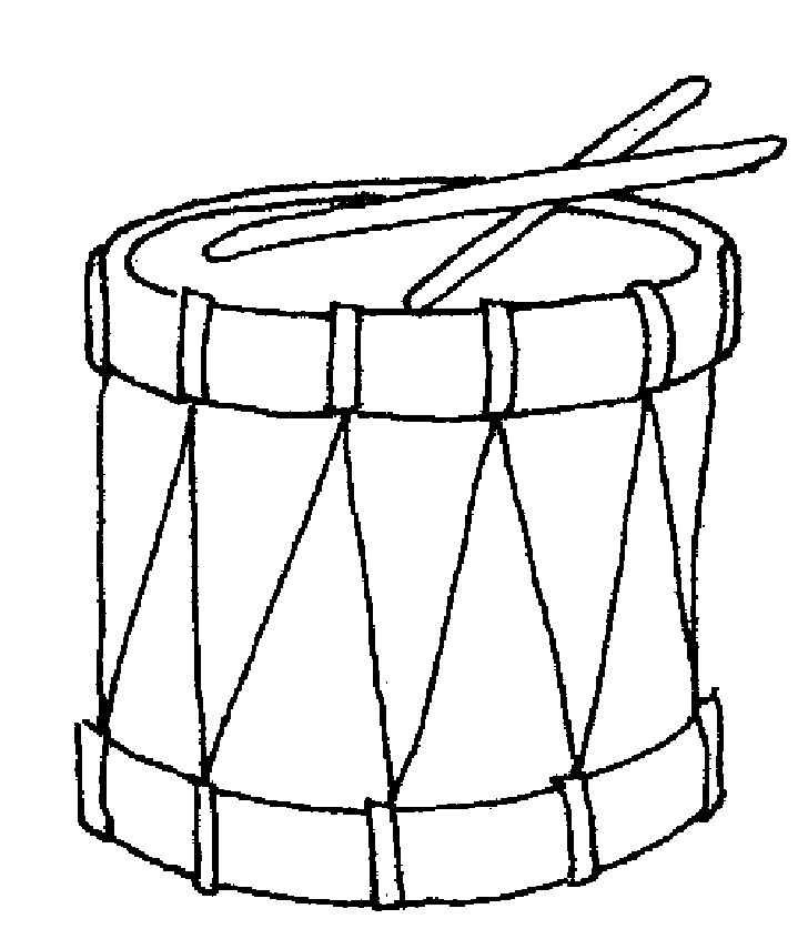 Drums clipart toy drum. Christmas coloring page free