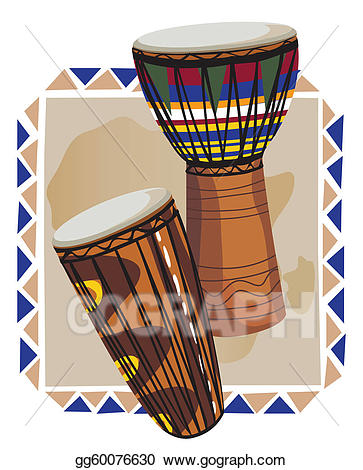 Drums clipart traditional drum. Eps illustration african vector