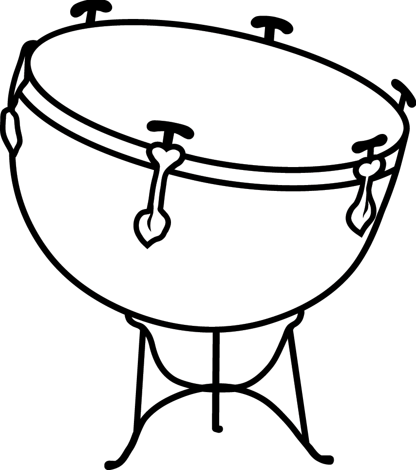 . Drums clipart triangle music