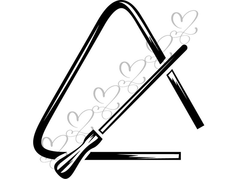 Percussion musical instrument drum. Drums clipart triangle music
