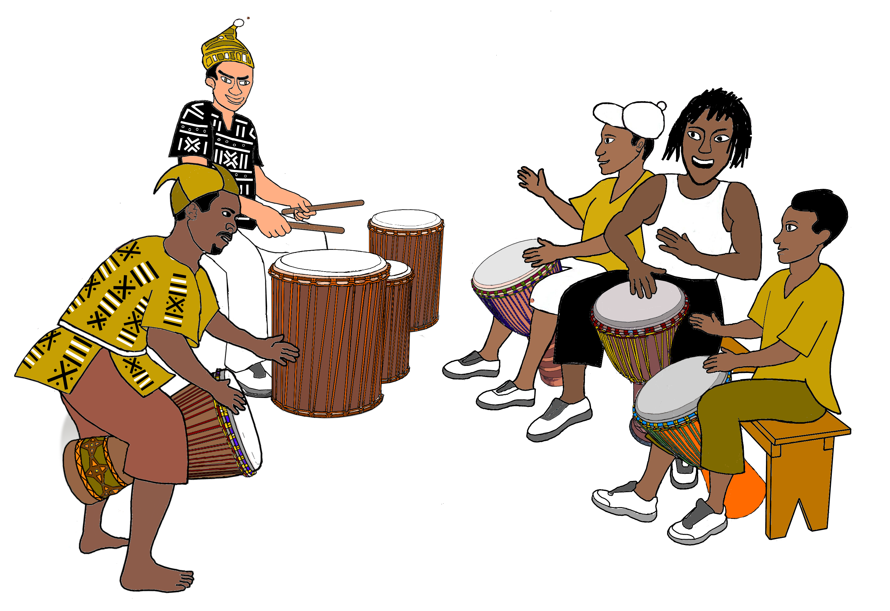 Drums clipart wedding.  collection of african