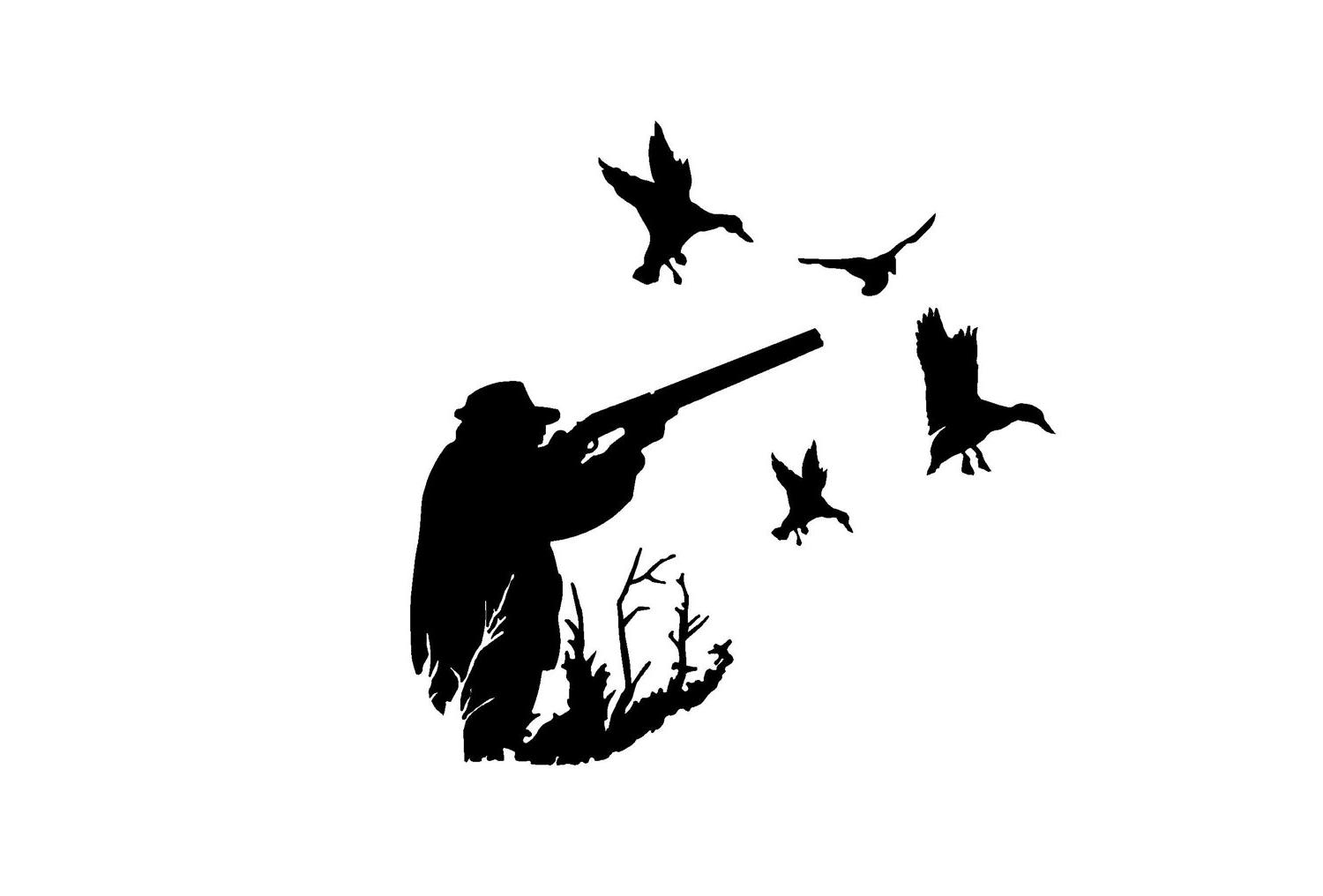 Hunting clipart waterfowl hunting. Duck silhouette free download