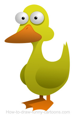 Ducks clipart easy. Drawing a duck cartoon