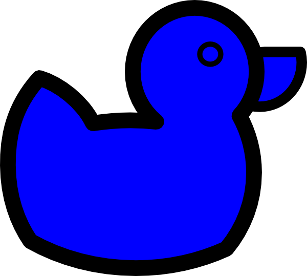 Blue duck clip at. Ducks clipart line art