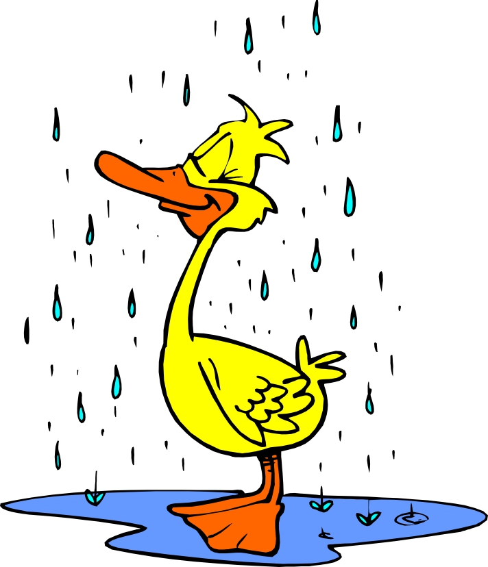 Ducks clipart rain clip art. Rainy free download best
