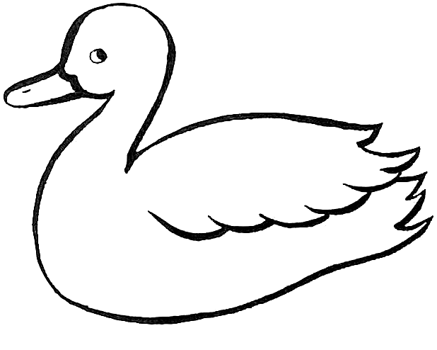 Duck outline printables basic. Duckling clipart line