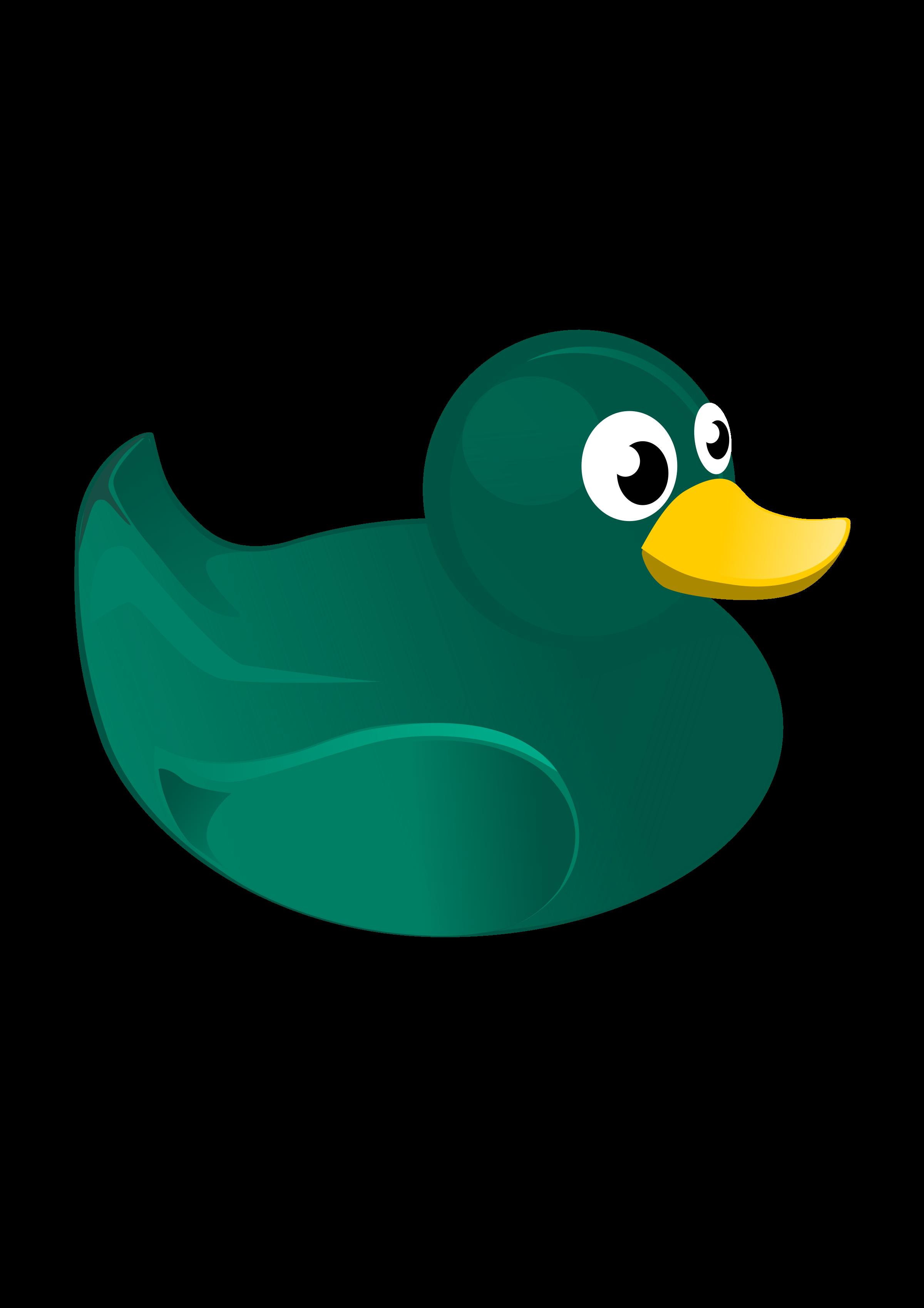 Rubber duck big image. Ducks clipart green