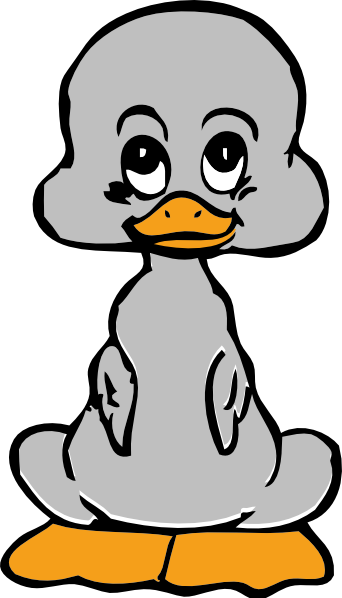 Ugly clip art at. Duckling clipart