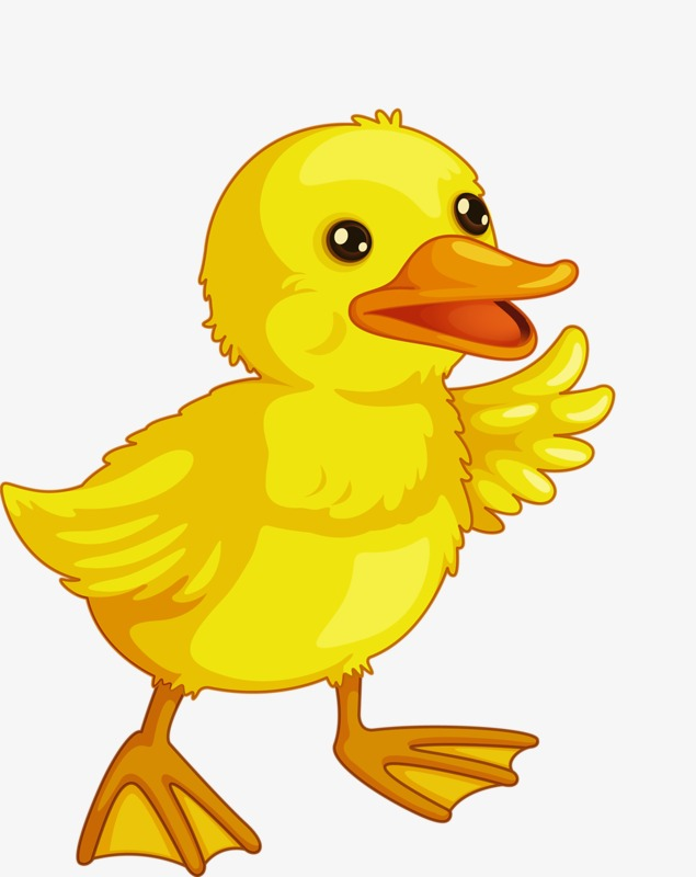 Creative cartoon hand painted. Duckling clipart