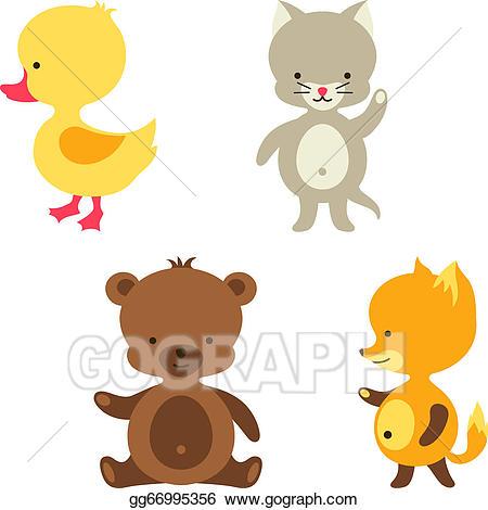 Duckling clipart brown bear. Clip art vector little