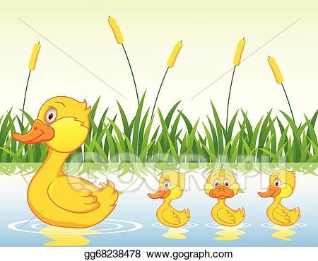 Duckling clipart family. Clip art vector duck