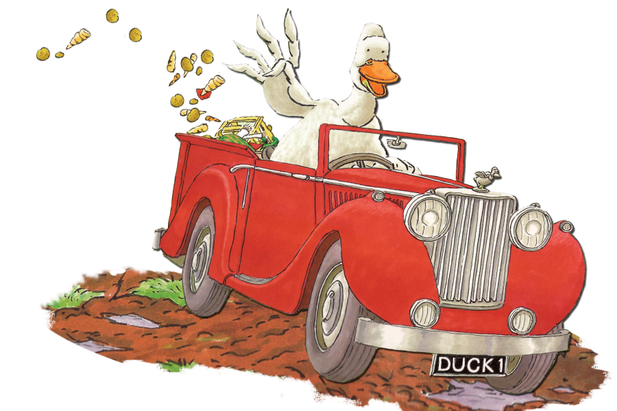 Ducks clipart duck waddle. In a truck live