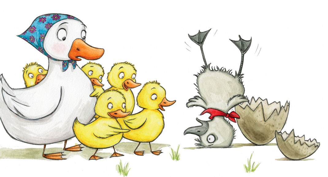 The ugly shelly medium. Duckling clipart group duck