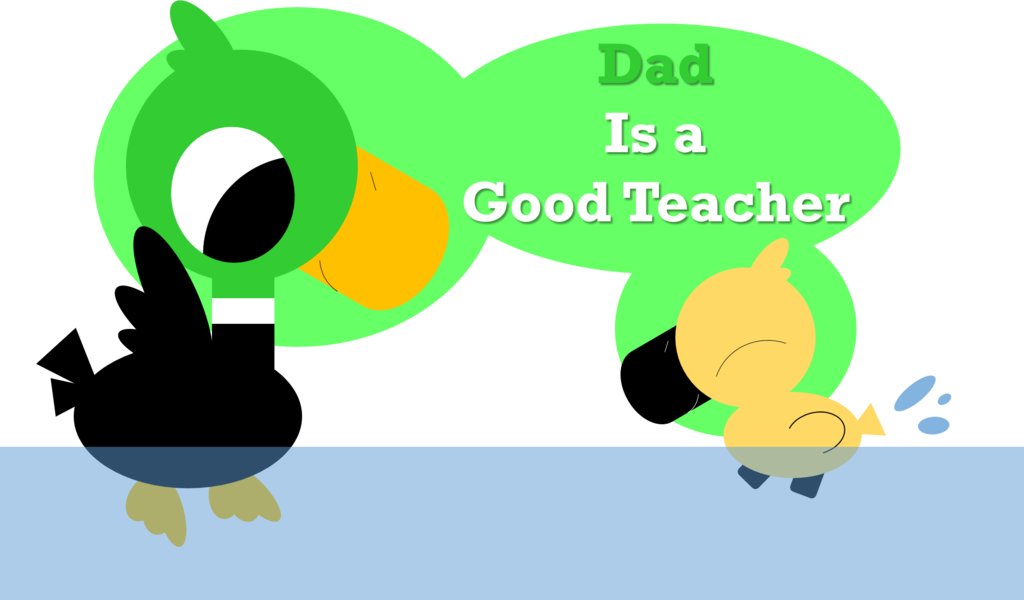 Daddy and by alice. Duckling clipart group duck